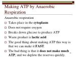 making atp by anaerobic respiration