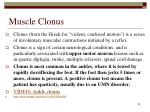 muscle clonus