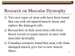 research on muscular dystrophy