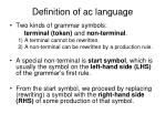 definition of ac language7