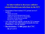 an intervention to decrease catheter related bloodstream infections in the icu32