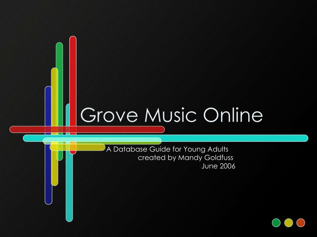 grove music online l.