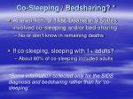 co sleeping bedsharing