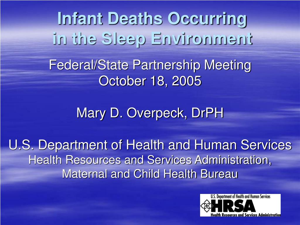 infant deaths occurring in the sleep environment l.