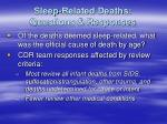 sleep related deaths questions responses
