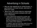 advertising in schools
