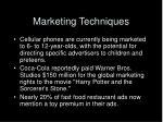 marketing techniques33