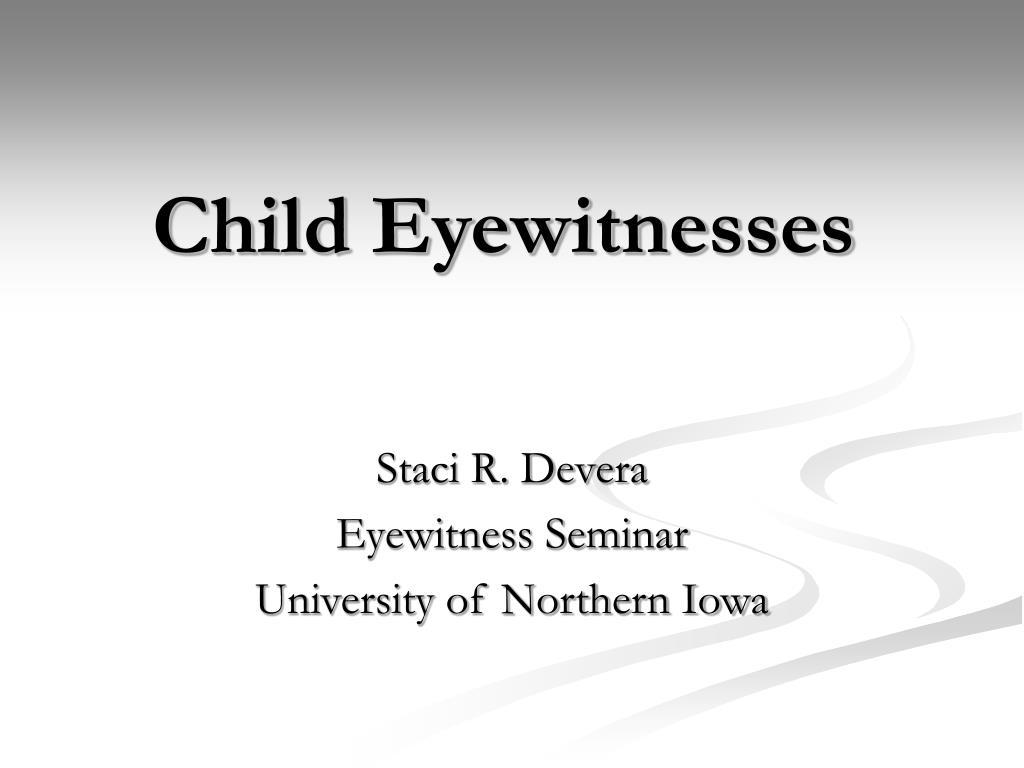 child eyewitnesses l.
