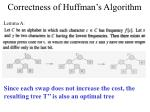 correctness of huffman s algorithm