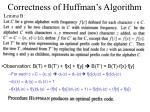 correctness of huffman s algorithm22