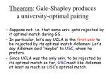theorem gale shapley produces a university optimal pairing