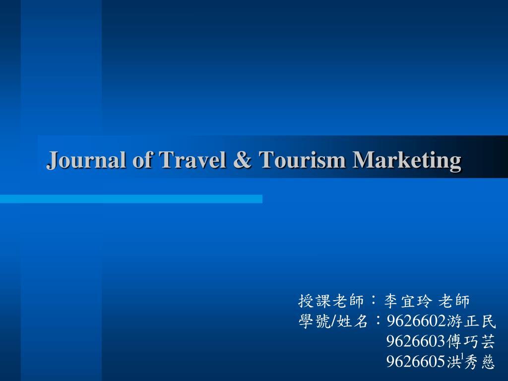 journal of travel tourism marketing l.