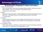 advantages of prices