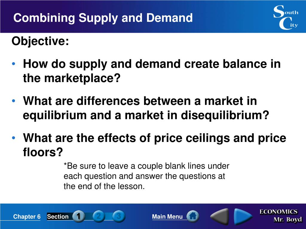 combining supply and demand l.
