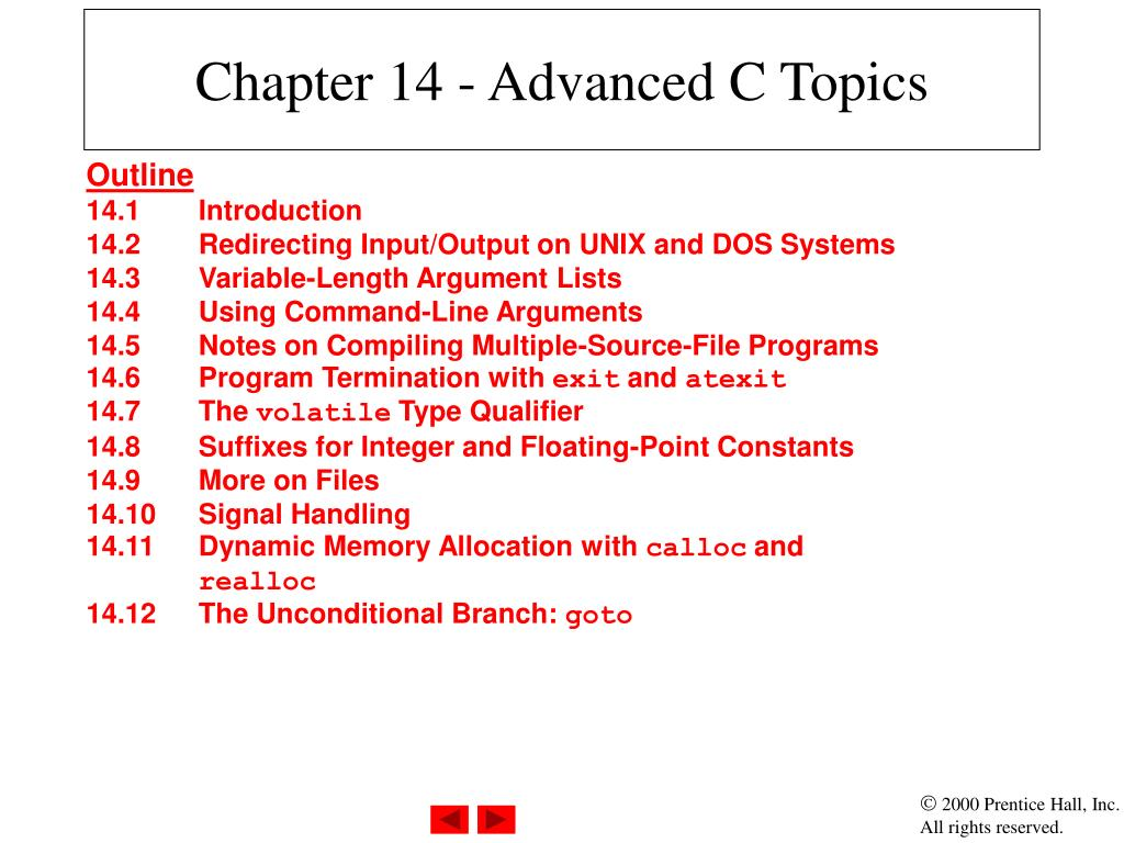 chapter 14 advanced c topics l.