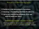 annual cjd monitoring tasks