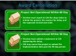 award cancellation