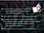 contractual professional services recurring findings