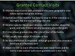 grantee contact visits