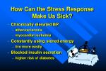 how can the stress response make us sick
