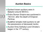 auction basics