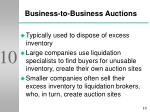 business to business auctions