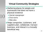 virtual community strategies