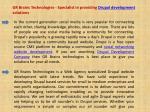 gr brains technologies specialist in providing drupal development solutions