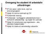 overgang fra student til arbeidsliv utfordringer