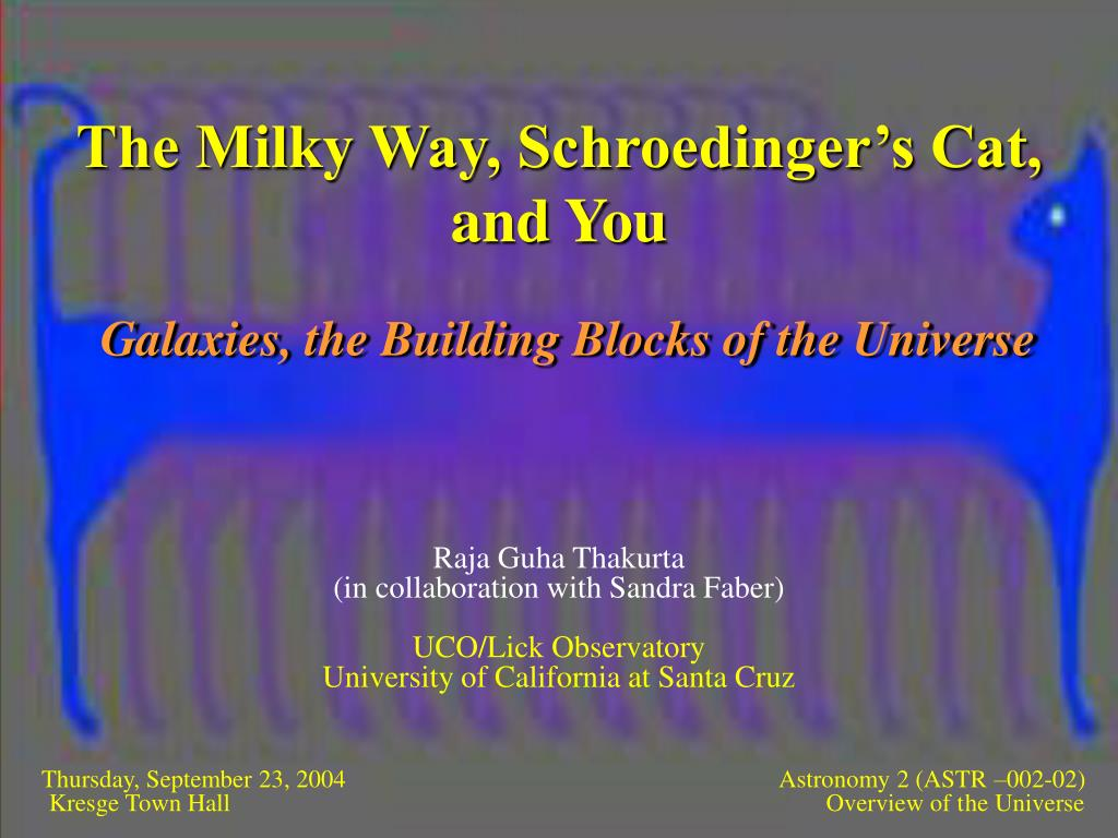 the milky way schroedinger s cat and you l.