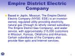 empire district electric company