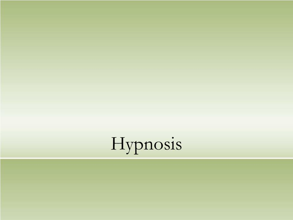 hypnosis l.
