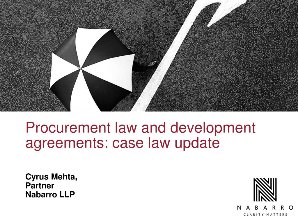 procurement law and development agreements case law update l.
