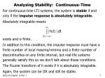 analyzing stability continuous time