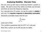 analyzing stability discrete time