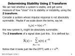 determining stability using z transform