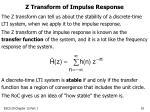 z transform of impulse response
