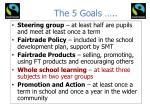 the 5 goals