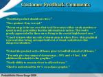 customer feedback comments