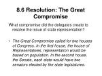 8 6 resolution the great compromise