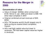 reasons for the merger in 2000