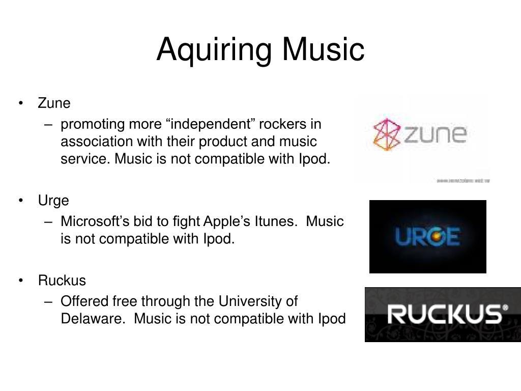 Aquiring Music