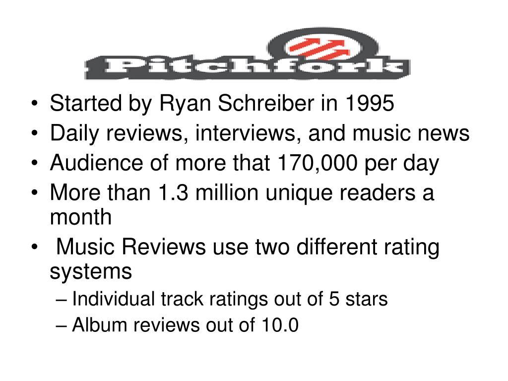 Started by Ryan Schreiber in 1995