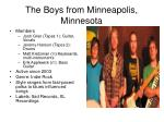 the boys from minneapolis minnesota