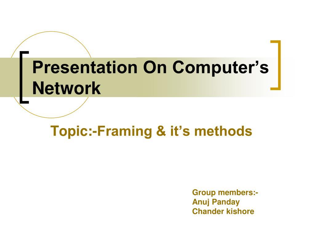 presentation on computer s network l.