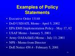 examples of policy statements