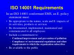 iso 14001 requirements