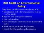 iso 14004 on environmental policy