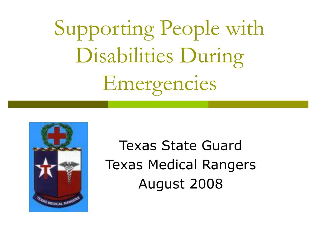 supporting people with disabilities during emergencies l.