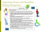 supporting people with disabilities during emergencies14